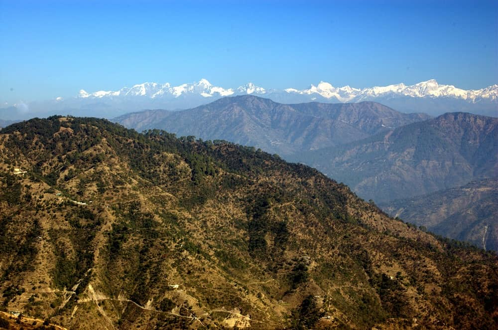 Himalaya Views from the Temple Kunjapuri