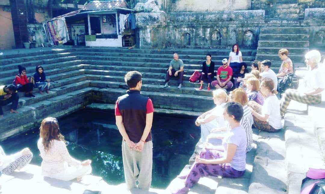 Meditation in the Morning at Rishikund , Triveni Gaht Rishikesh