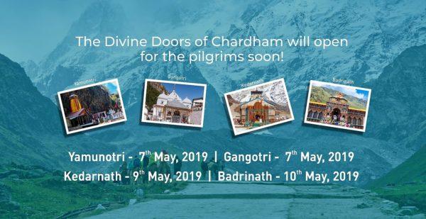 Opening dates of Chardham Yatra 2019