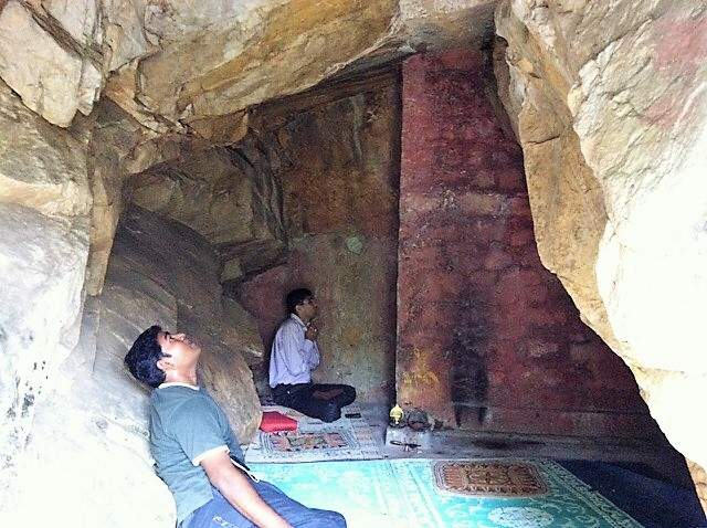 Interior of the babaji cave in India