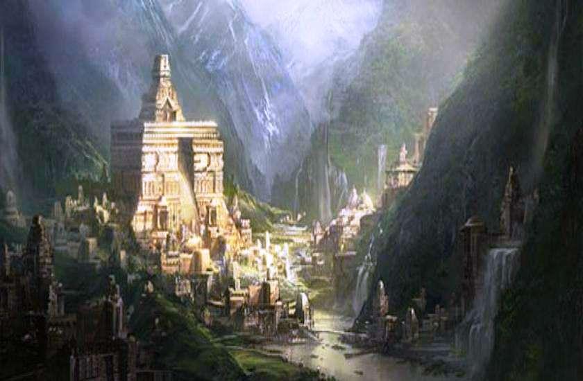 Siddhashram in in the Himalayas