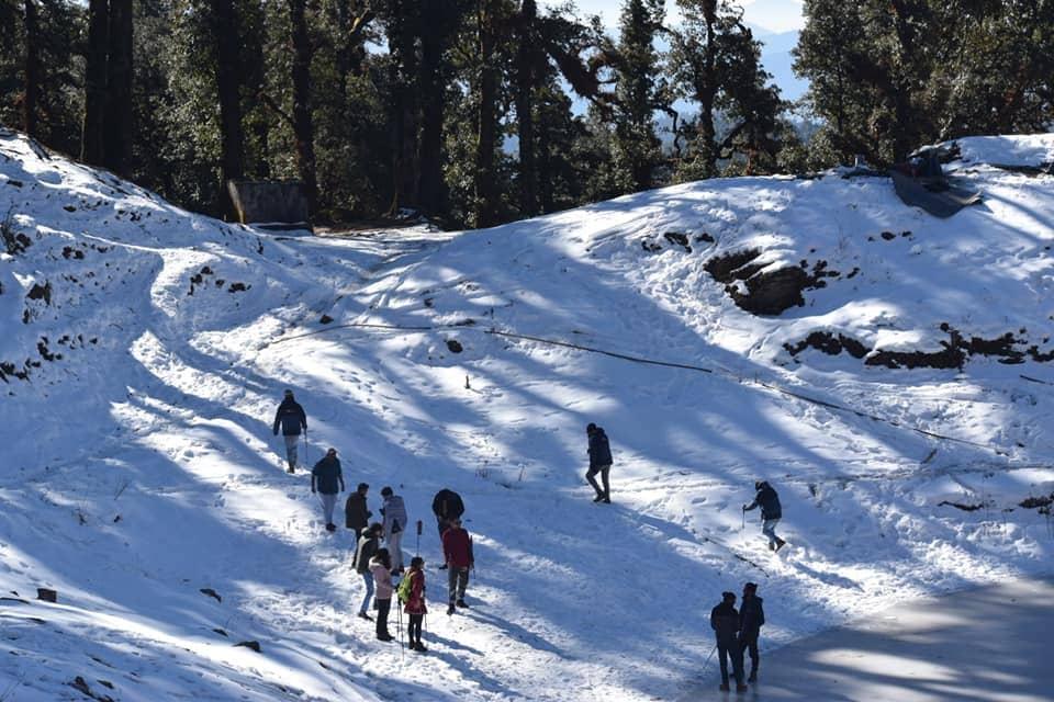 During winter Brahmatal Trek