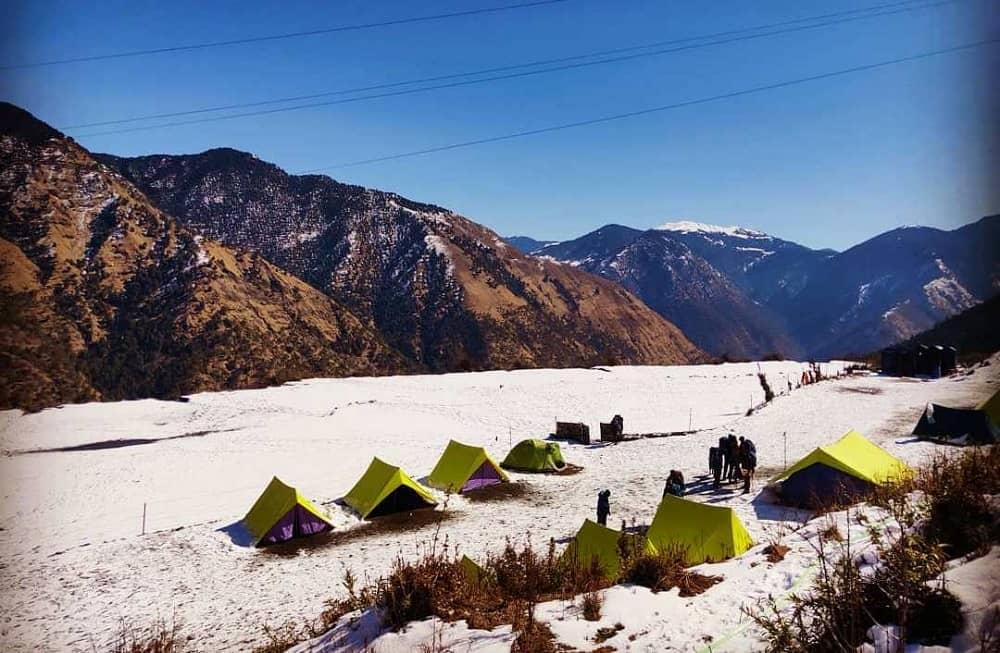 Lohajung camps During winter Brahmatal Trek
