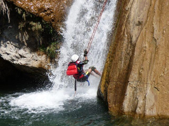 Neer waterfalls Rappelling