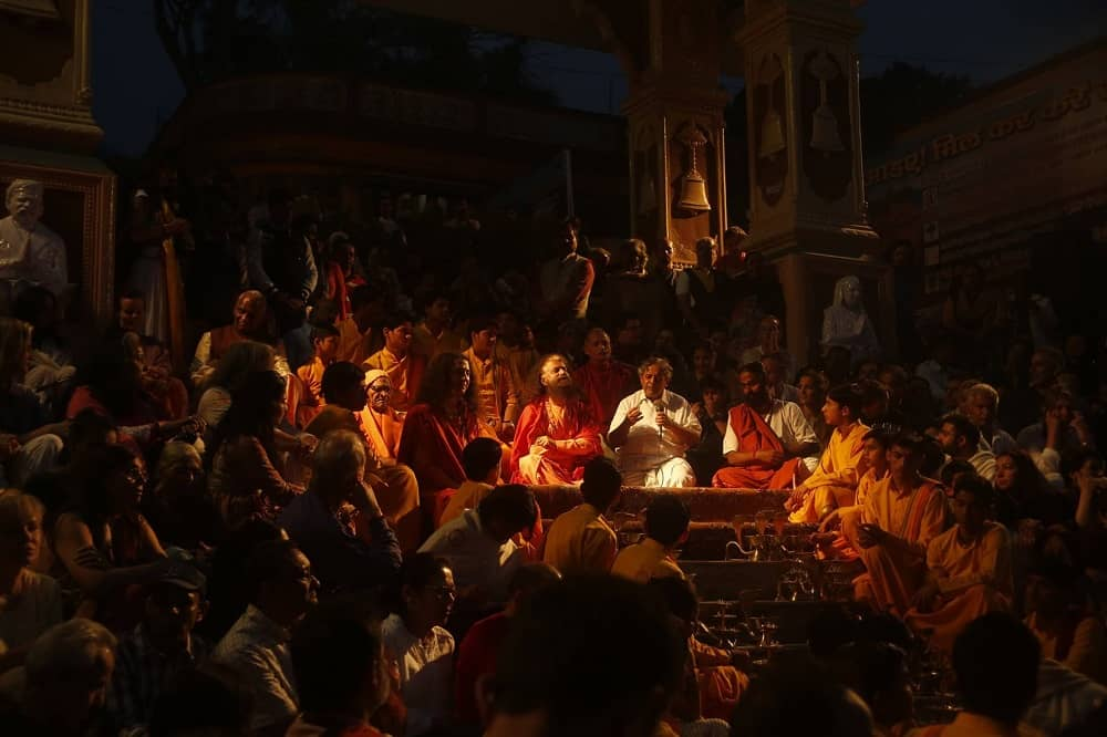 Ganga Aarti Rishikesh at Parmarth Niketan Uttarakhand